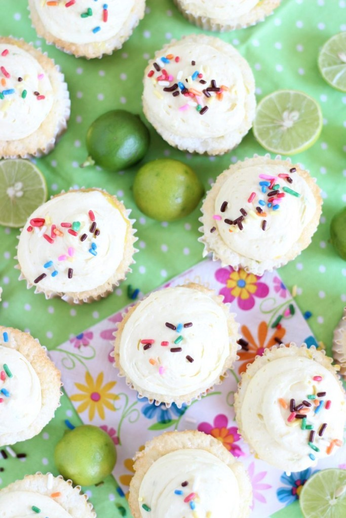 key lime angel food cupcakes with key lime curd 17