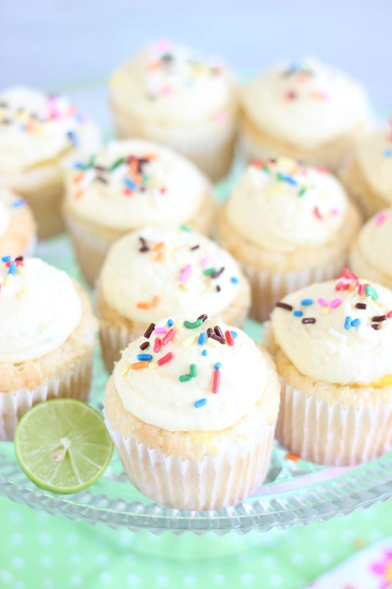 Key Lime Angel Food Cupcakes with Key Lime Curd