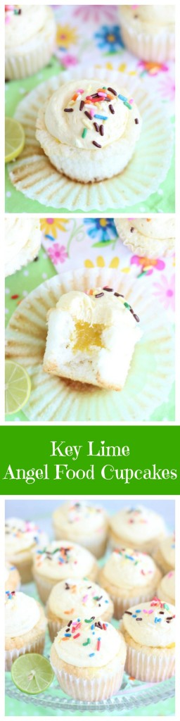 key lime angel food cupcakes with key lime curd pin