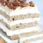 Maple Pecan Blondie Torte with Maple Cream Cheese Frosting