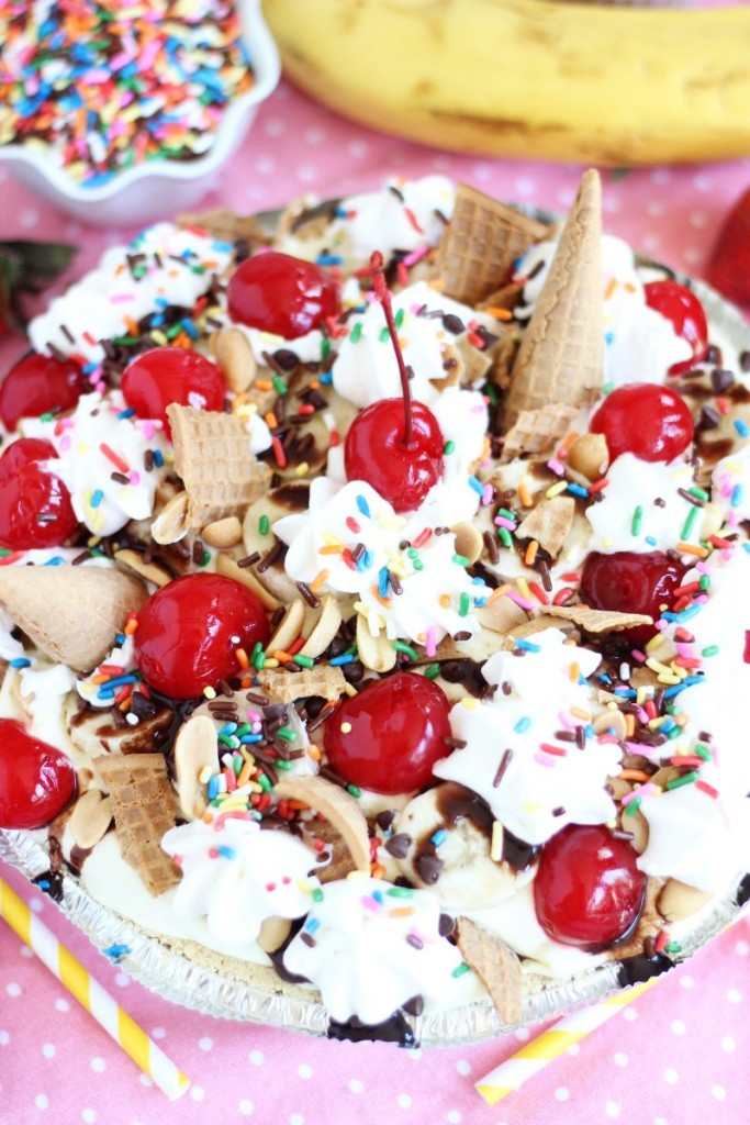 no bake banana split pie 12