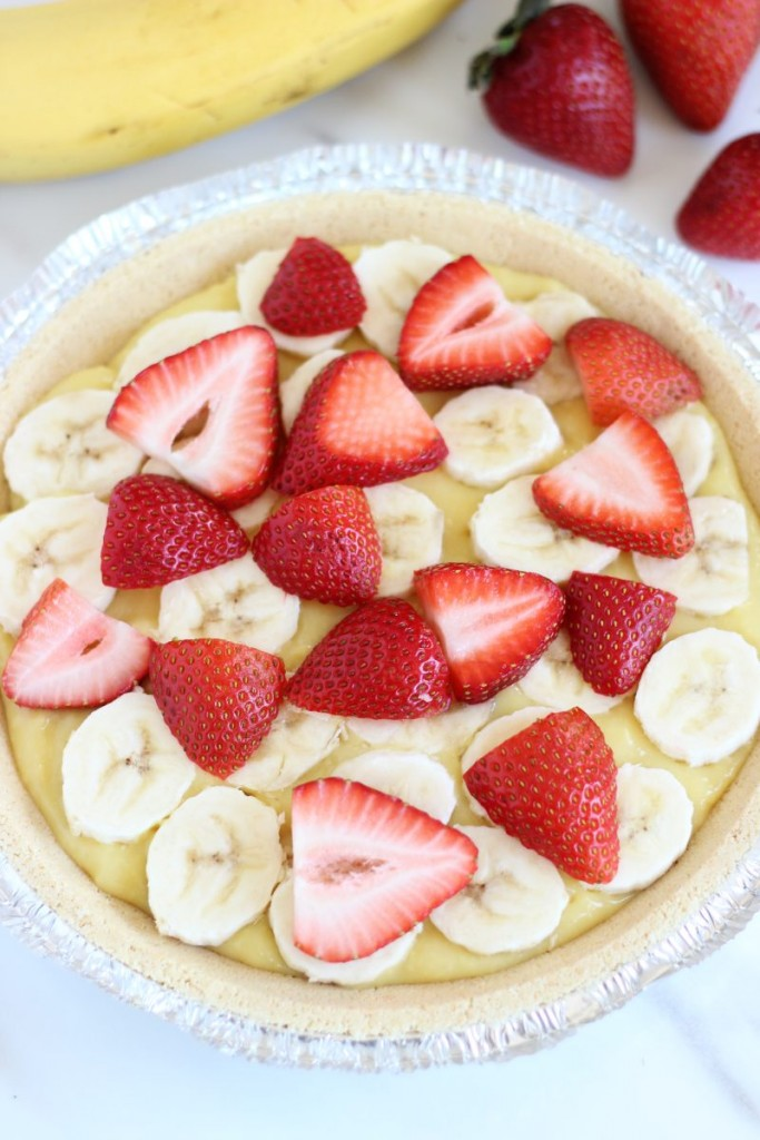 no bake banana split pie 2