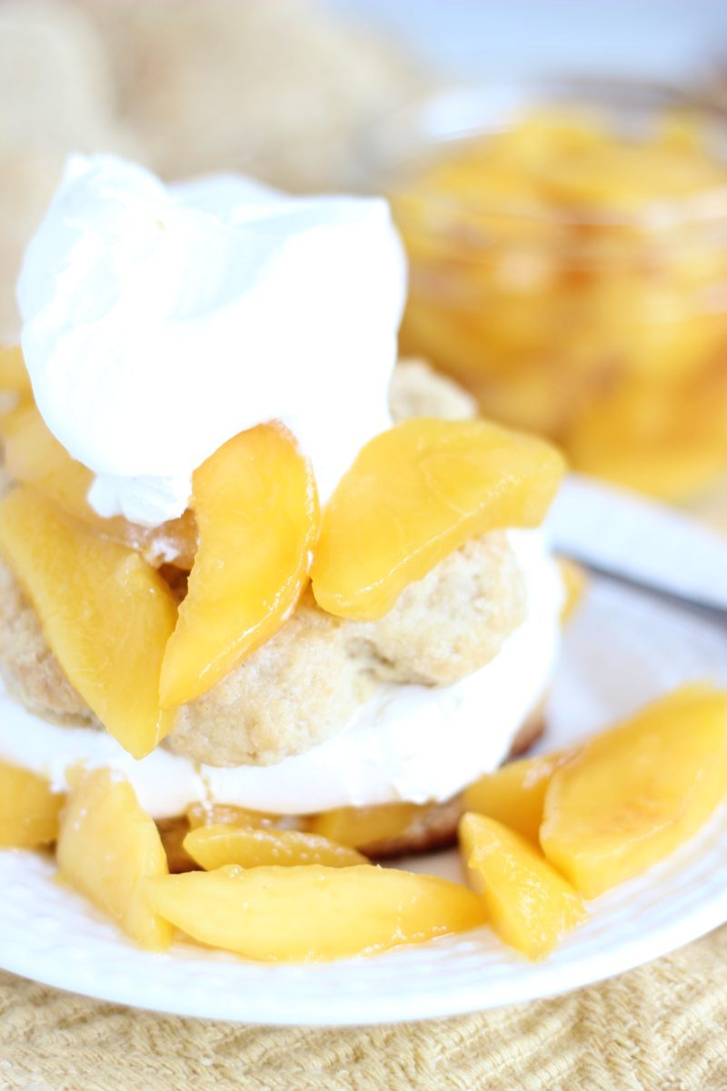Peaches N Cream Brown Sugar Shortcakes