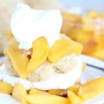 Peaches N Cream Brown Sugar Shortcakes