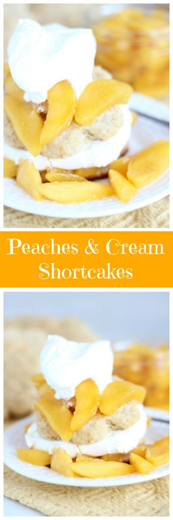 peaches & cream shortcakes pin