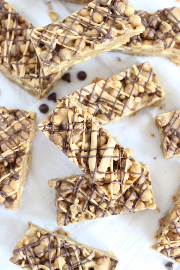 peanut butter cup cereal bars 7