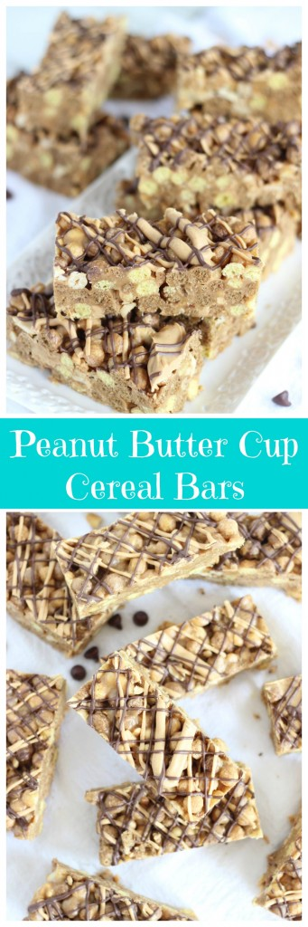 peanut butter cup cereal bars pin
