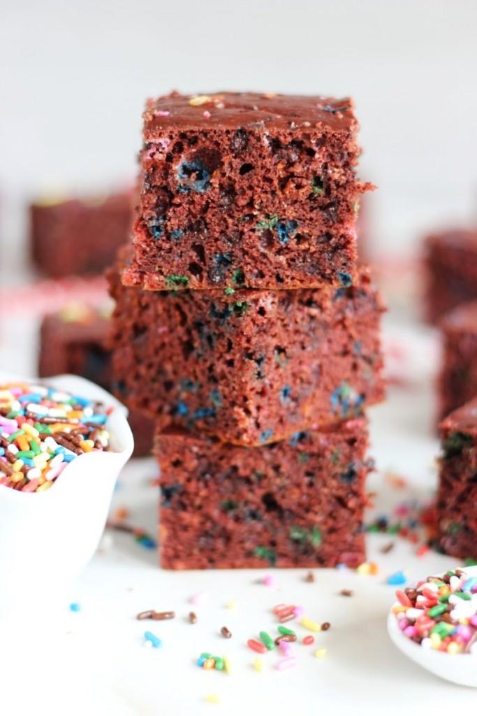 red velvet cake funfetti protein bars 7