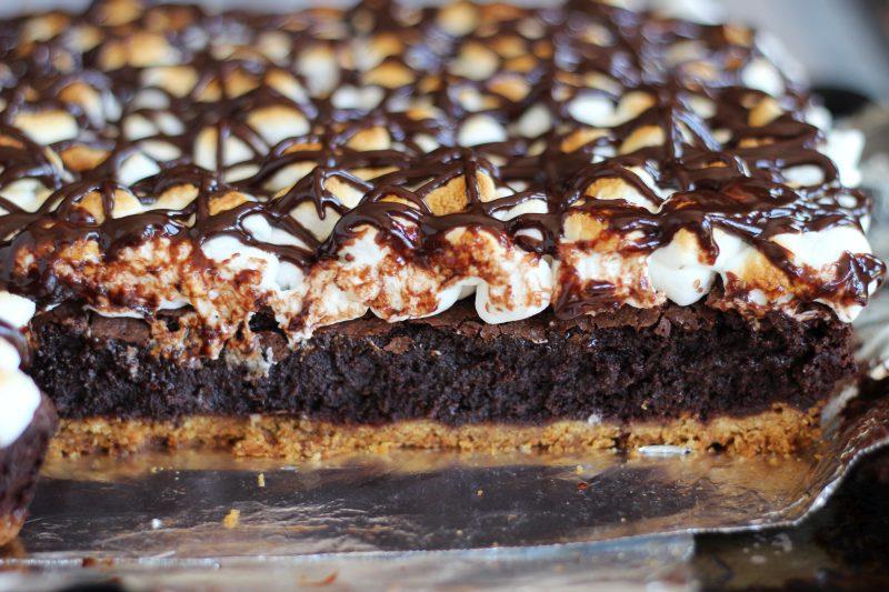 ultimate fudgy s'mores brownies 11