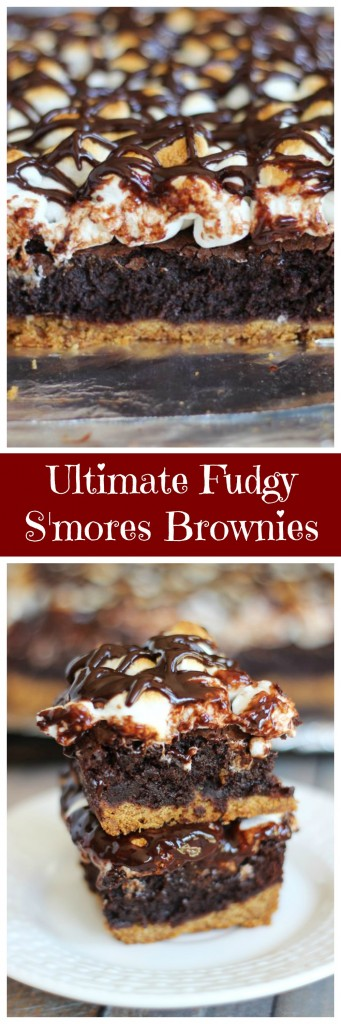 ultimate fudgy s'mores brownies pin