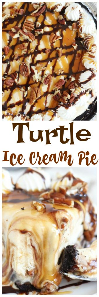 Mile-High Turtle Ice Cream Pie - The Gold Lining Girl