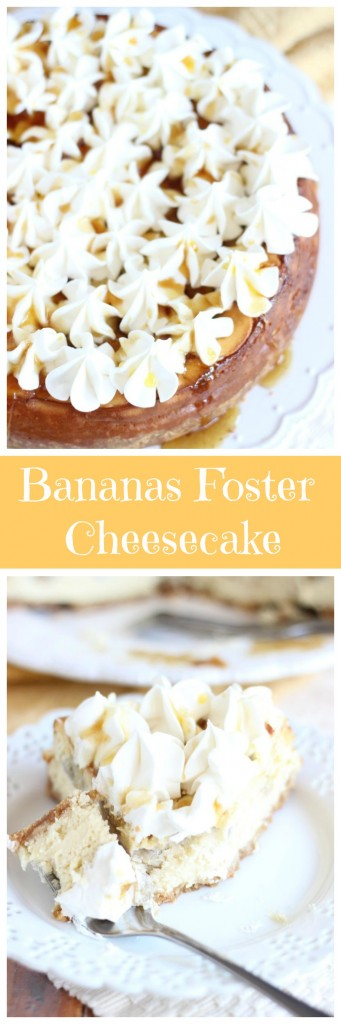 bananas foster cheesecake pin