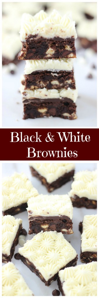 black and white brownies pin