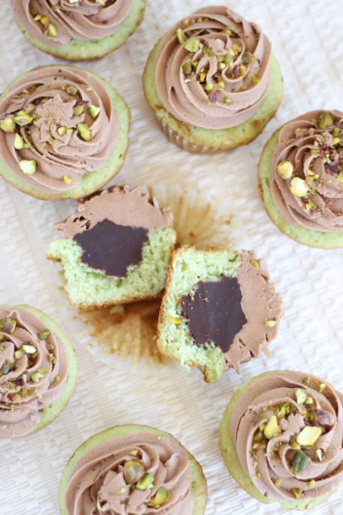 chocolate ganache pistachio cupcakes with chocolate cream cheese frosting 15