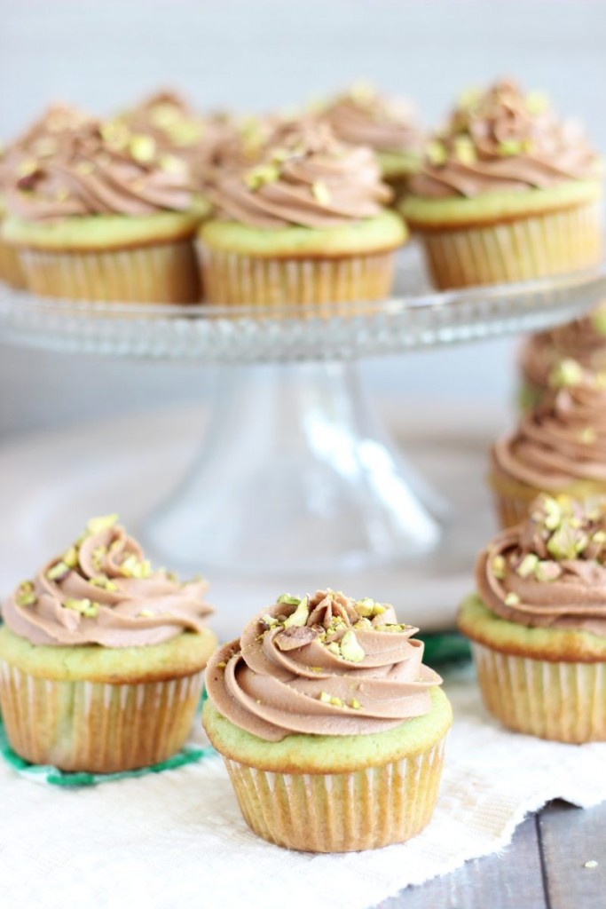 chocolate ganache pistachio cupcakes with chocolate cream cheese frosting 4