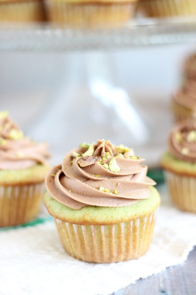 chocolate ganache pistachio cupcakes with chocolate cream cheese frosting 7