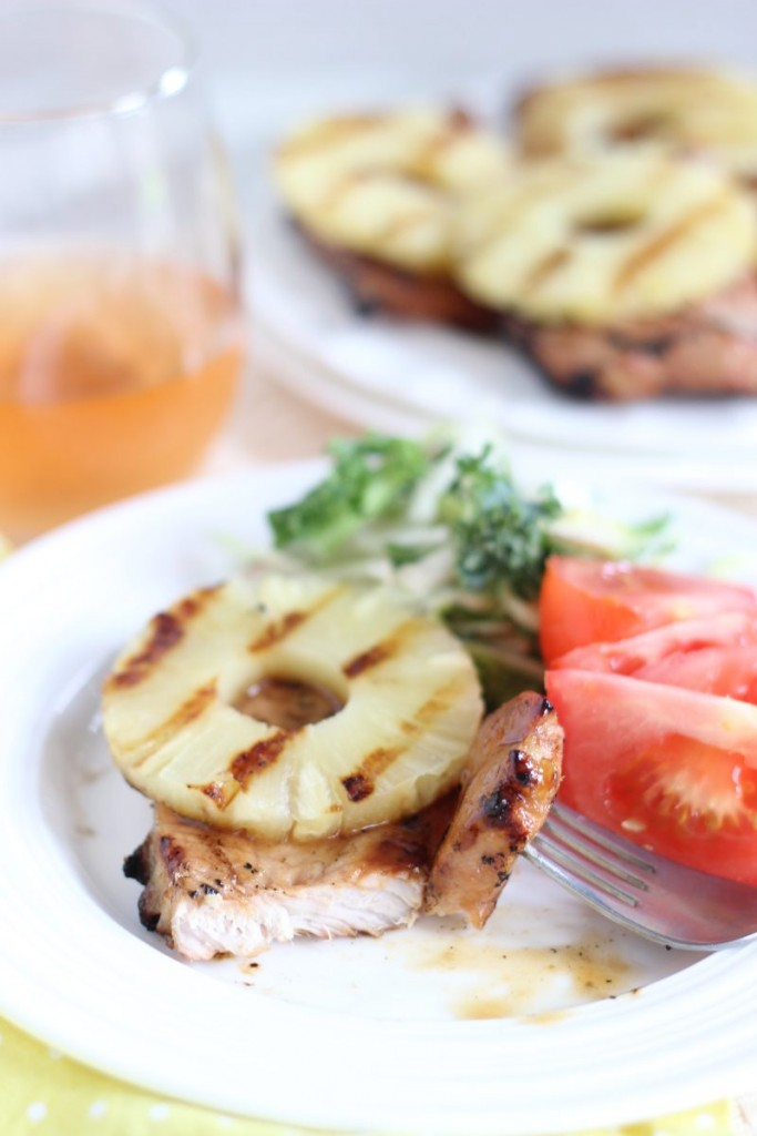 grilled teriyaki pineapple pork chops 15