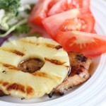grilled teriyaki pineapple pork chops 9