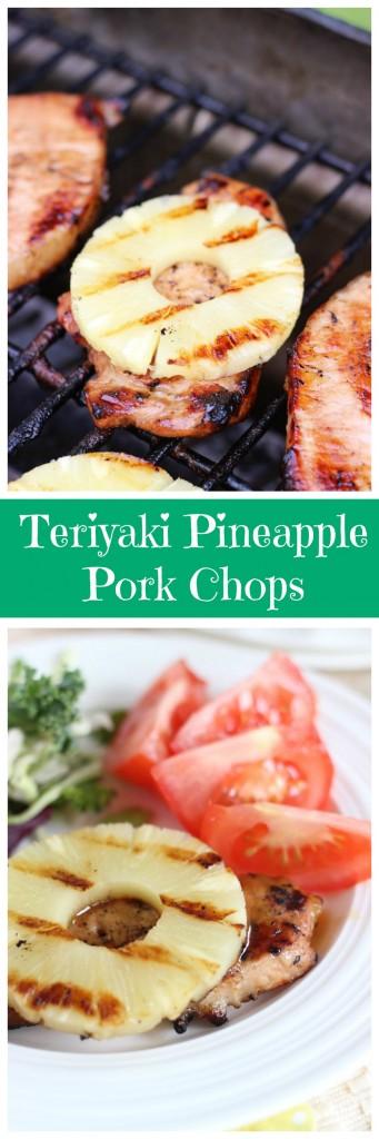 grilled teriyaki pineapple pork chops pin