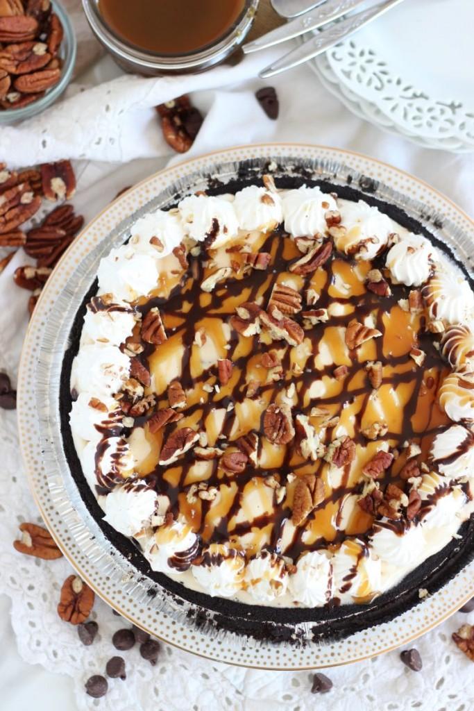 mile high turtle ice cream pie 3