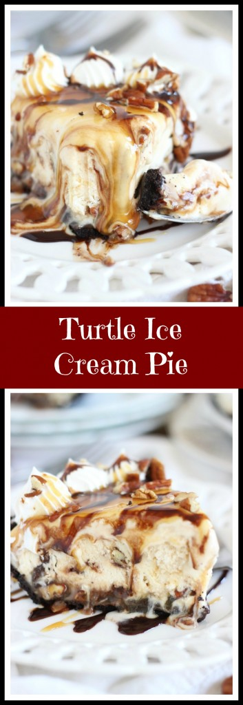 ... turtle ice cream pie is no-bake and super simple to throw together