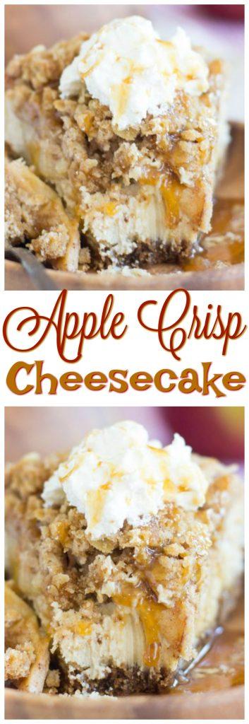 Caramel Apple Crisp Cheesecake pin 1