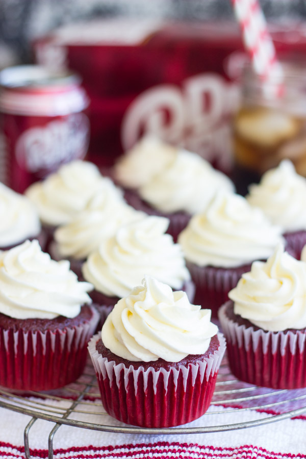 Dr Pepper Red Velvet Cupcakes with Cream Cheese Frosting (16)