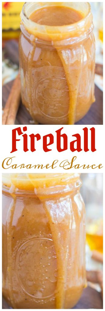 Fireball Whiskey Caramel Sauce pin 2