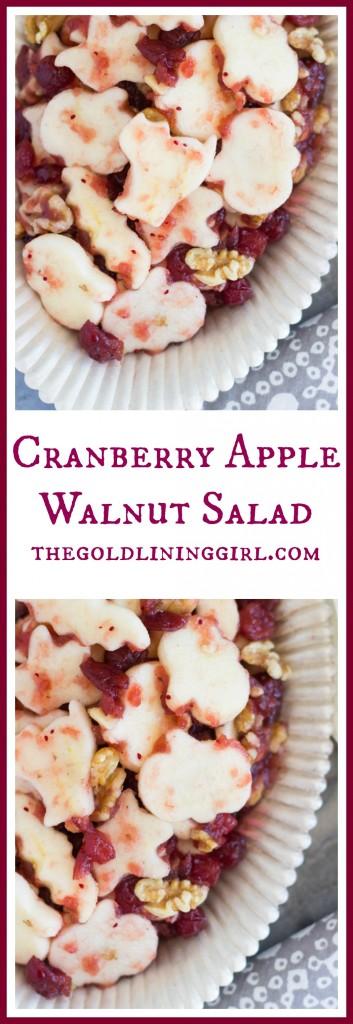 Halloween Cranberry Apple Fruit Salad pin