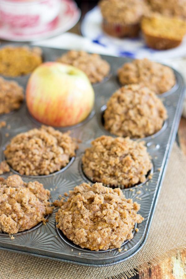 Pumpkin Apple Streusel Muffins (2)
