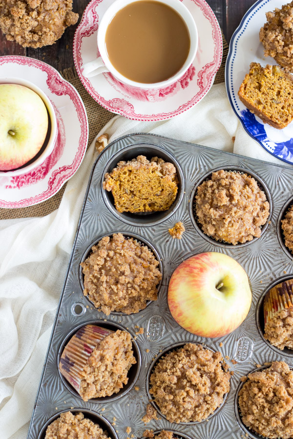 Pumpkin Apple Streusel Muffins (5)