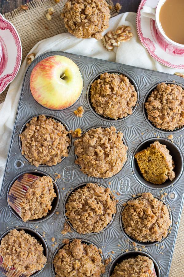 Pumpkin Apple Streusel Muffins (6)