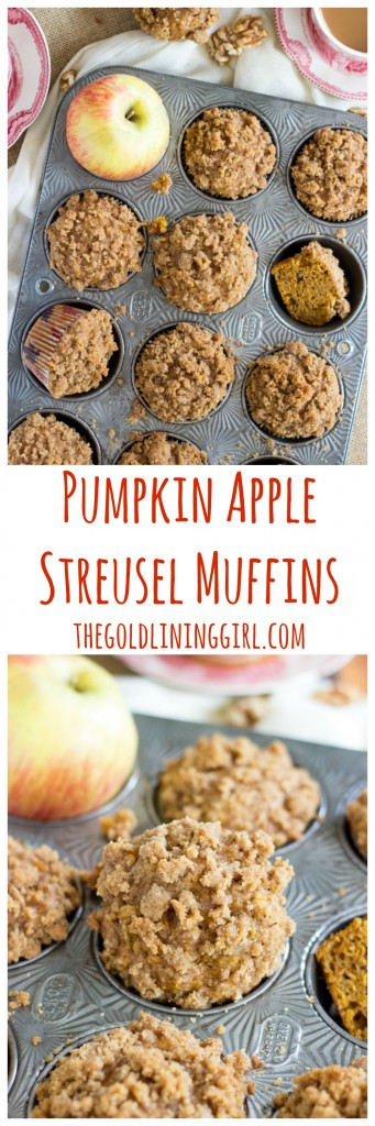 Pumpkin Apple Streusel Muffins pin