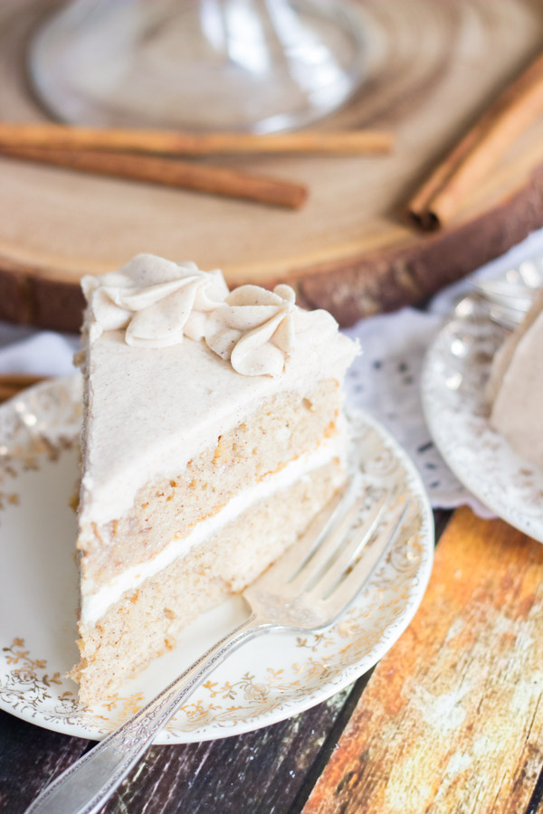 Snickerdoodle Poke Cake Layer Cake The Gold Lining Girl