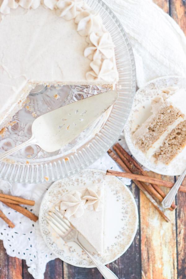 Snickerdoodle Poke Cake Layer Cake (4)