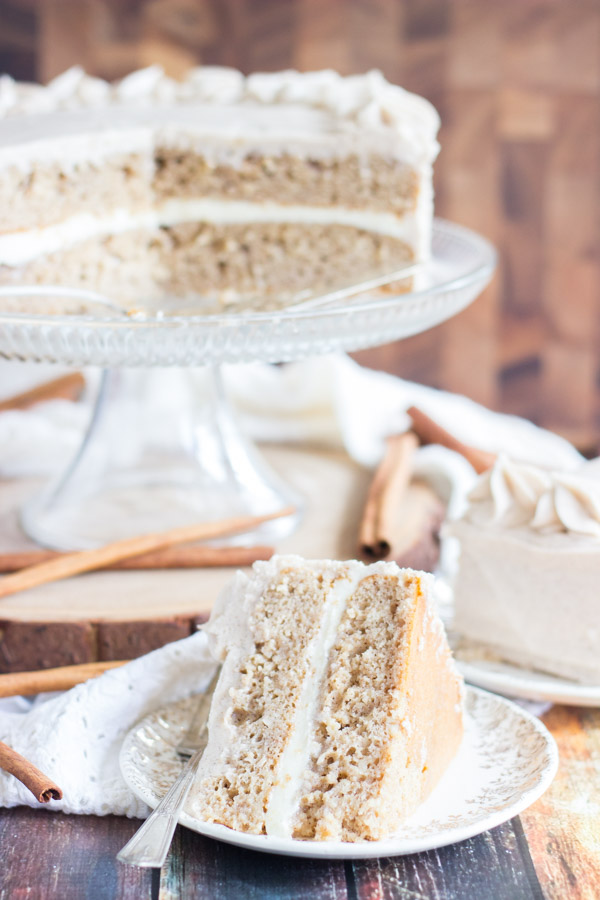 Snickerdoodle Poke Cake Layer Cake (8)
