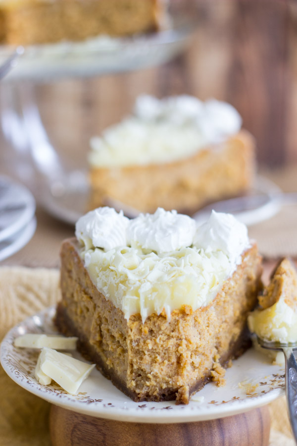 White Chocolate Pumpkin Cheesecake with Gingersnap Crust (10)