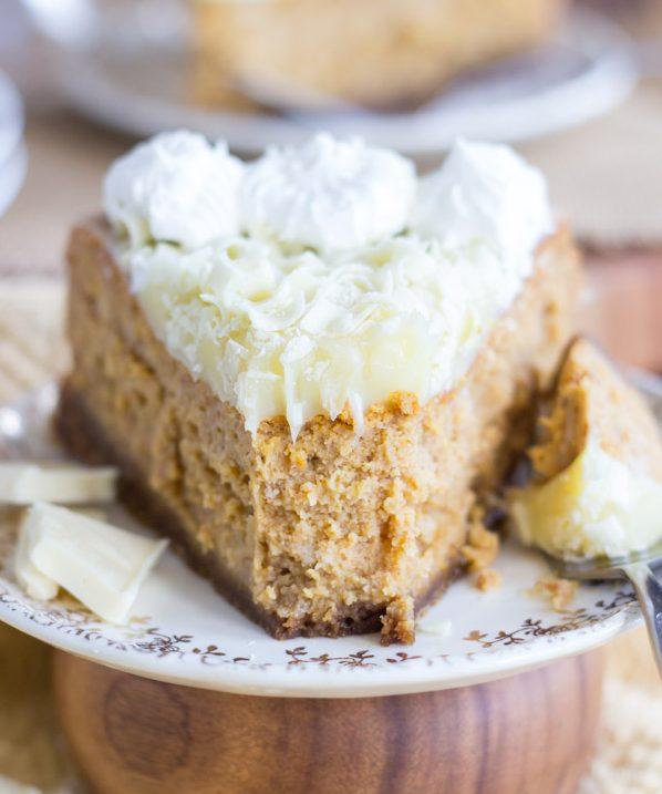White Chocolate Pumpkin Cheesecake with Gingersnap Crust (12)