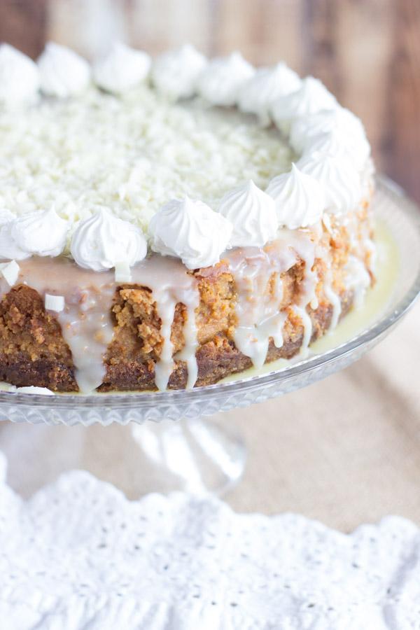 White Chocolate Pumpkin Cheesecake with Gingersnap Crust (4)