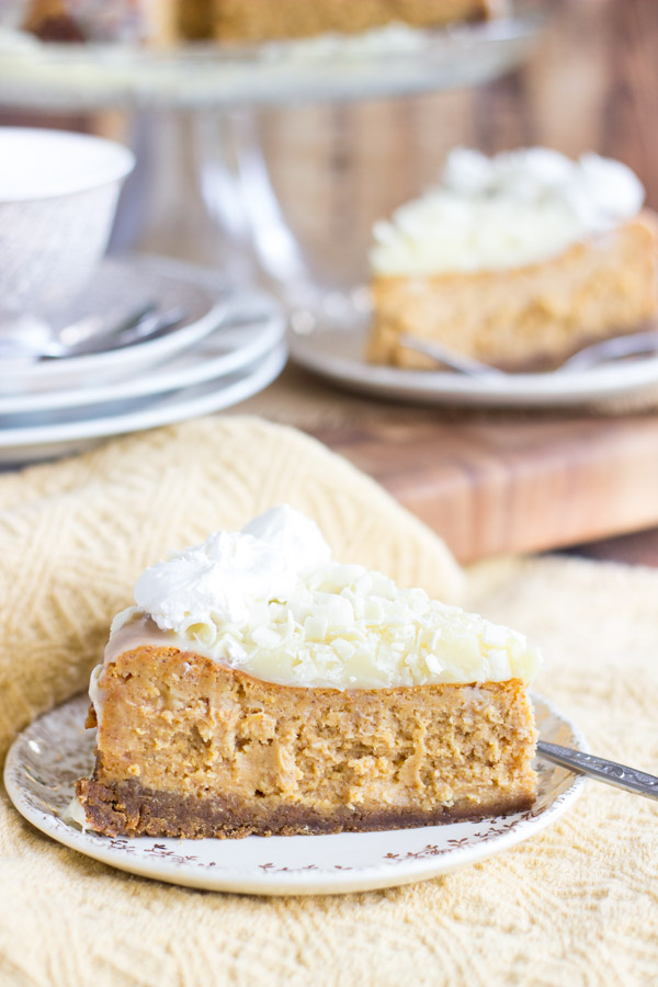 White Chocolate Pumpkin Cheesecake with Gingersnap Crust (7)