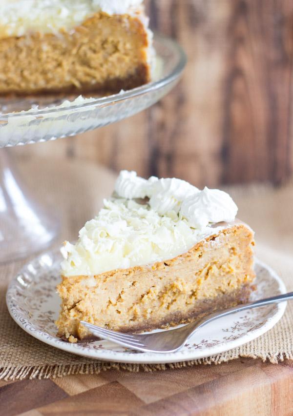 White Chocolate Pumpkin Cheesecake with Gingersnap Crust (9)