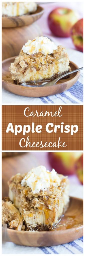 caramel apple crisp cheesecake pin
