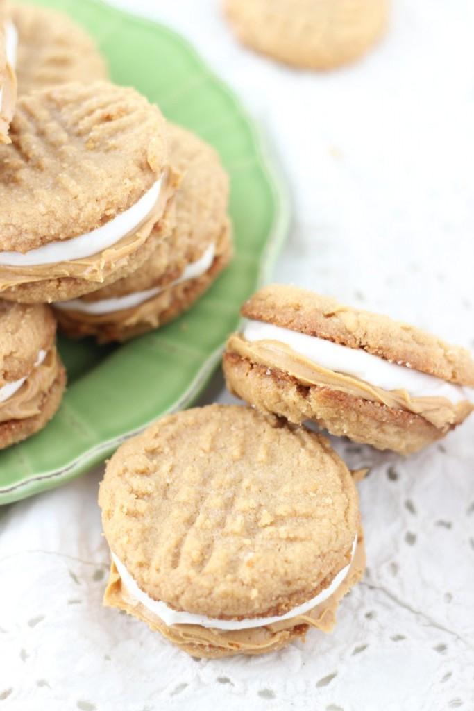 fluffernutter cookie sandwiches 1