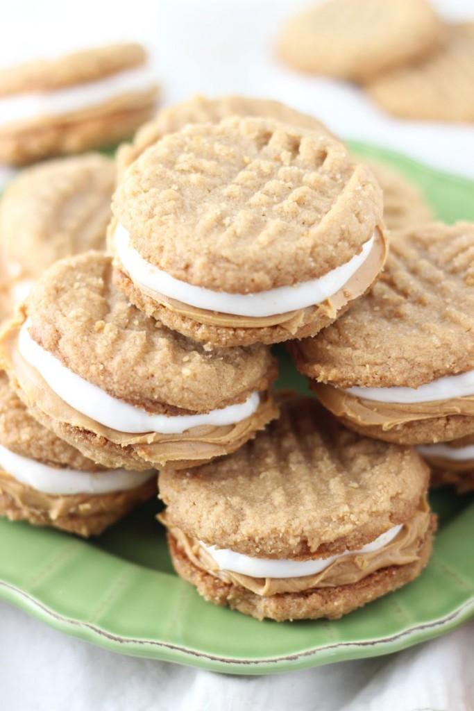fluffernutter cookie sandwiches 6
