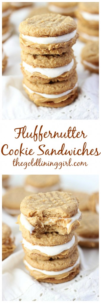 fluffernutter cookie sandwiches pin
