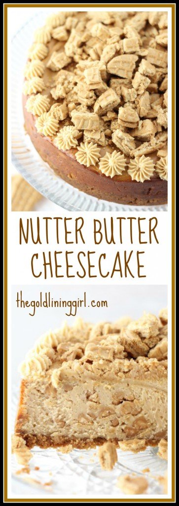 nutter butter peanut butter cheesecake pin
