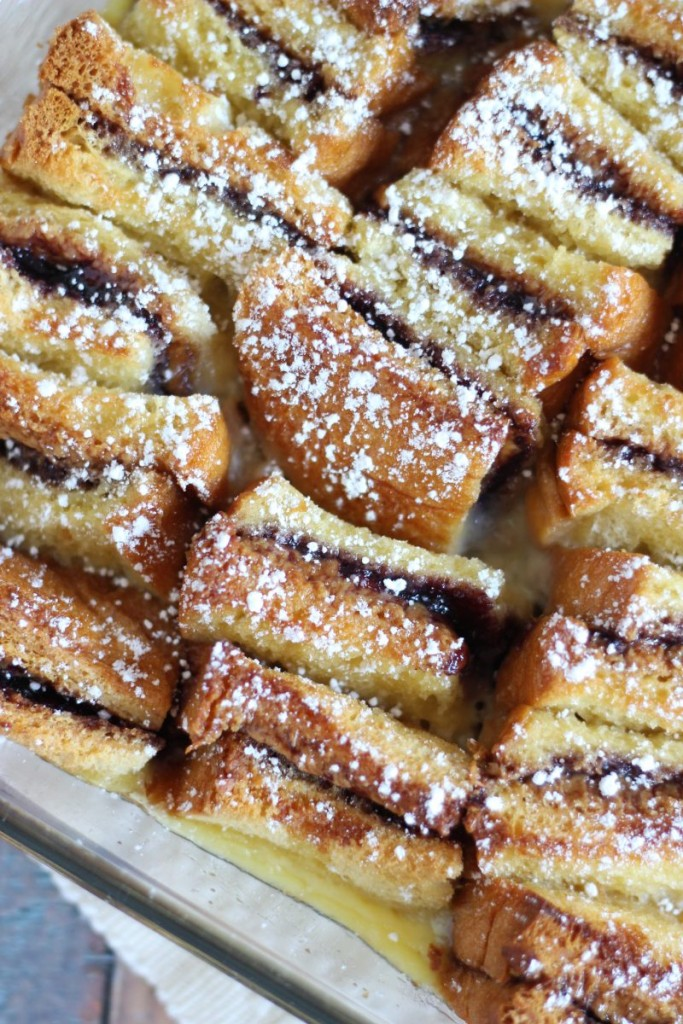 peanut butter & jelly bread pudding 6