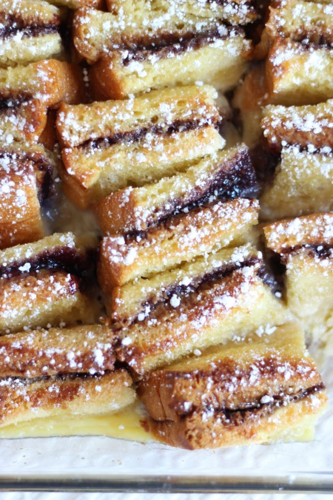 peanut butter & jelly bread pudding 8