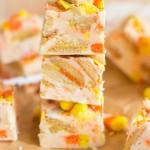 10-Minute Candy Corn Fudge