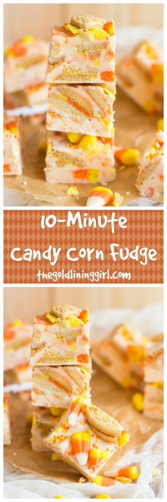 10-Minute Candy Corn Fudge pin